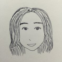 I drew a woman using a ball-point pen in a few minutes.