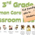 Common Core Third Grade Posters with I will statements