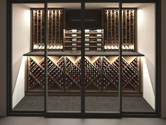 Elegante vinkælderløsninger i alle størrelser Kitchen Rack, Cellar, Caves, Wine Rack, Facade, Stairs, Inspiration, Furniture, Home Decor