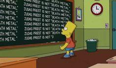 Bart Simpson apologizes to JudasPriest