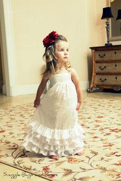 White Eyelet Ruffle Dress by SnuggleBugsAndBows on Etsy, $67.00