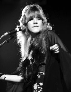 """Stevie Nicks in her own words ~ """"In Fleetwood Mac I have a persona, I call myself the 'Spider Woman'. I try to imagine myself putting on a spider mask. I become very subdued and quieter, I don't move so fast., I'm in a state of suspended animation. Members Of Fleetwood Mac, Buckingham Nicks, Lindsey Buckingham, Suspended Animation, Stephanie Lynn, Shaggy Haircuts, Stevie Nicks Fleetwood Mac, Look Vintage, Vintage Stuff"""