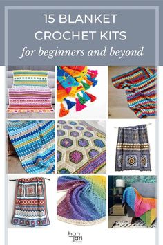 Enjoy this selection of 15 best blanket crochet kits curated by HanJan Crochet. Including information on the best yarn kit to choose, how to get value for money, and what to choose for you skill level. Includes crochet patterns and yarn kits for beginner, intermediate and advanced crocheters. #crochetkits #crochetblanket #crochetblanketkit Crochet Kits, Free Crochet, Cooling Blanket, Crochet Round, Crochet Blanket Patterns, Afghans, Money, Crafts, Inspiration