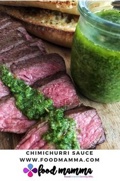Garlicky and packed with flavour, this chimichurri sauce is perfect with steak and chicken. A great way to use up any parsley you have. Holiday Recipes, Great Recipes, Chimichurri, Vegetable Sides, I Foods, Vegan Vegetarian, Beef Recipes, Food Processor Recipes, Side Dishes