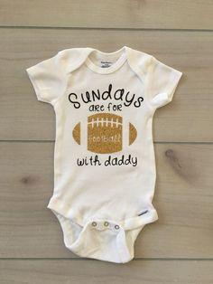 d520e400b Football with daddy onesie, gerber onesie, football onesie, football  sunday, baby football