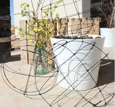 Haz tus propias esferas de alambre y decora tu jardín, balcón, terraza o galería!