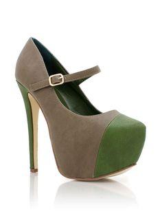 cap-toe mary jane platforms $49.00
