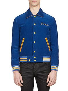 SAINT LAURENT Je T'aime Corduroy Teddy Jacket