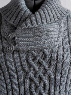 Knitting Patterns Men Hand knitted cable/aran fishermen sweater from high quality pure wool yarn (wont felt or shrink). Aran Sweaters, Pullover Outfit, Beginner Crochet Tutorial, Wool Wash, Pulls, Baby Knitting, Knitting Patterns, Knit Crochet, Men Sweater