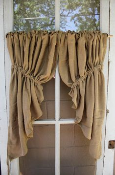 Cocalico Creek Country Store Burlap Curtains