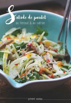 salade de poulet au fenouil et au safran - chicken and fennel salad with saffron sauce