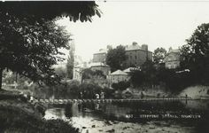 Morpeth's famous stepping stones with the Morpeth Workhouse in the background North East England, Historical Pictures, Best Memories, Newcastle, Over The Years, Stepping Stones, New York Skyline, Past, History