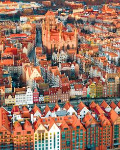 Colorful Gdansk, Poland at sunrise. Places Around The World, The Places Youll Go, Places To Visit, Around The Worlds, Beautiful World, Beautiful Places, Gdansk Poland, Poland Travel, Holiday Places