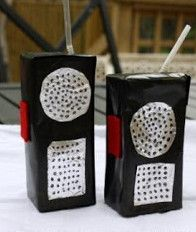 "Juice Box Walkie Talkies are a great ""green"" kids' craft that will keep them playing and pretending for hours."