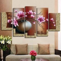 Online Shop hand-painted oil wall art Purple flowers water side home decoration abstract Landscape oil painting on canvas Abstract Canvas Wall Art, Abstract Landscape Painting, Abstract Oil, Oil Painting On Canvas, Oil Paintings, Multiple Canvas Paintings, Decoration Ikea, Décor Antique, Hand Painted Canvas
