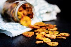 Plantain Chips Recipe Desserts with plantains, coconut oil, cinnamon sugar