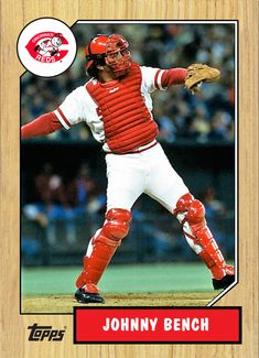 Hockey Cards, Baseball Cards, Johnny Bench, Cincinnati Reds Baseball, Trading Cards, Football, Sports, Hs Sports, Picture Cards
