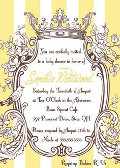 Yellow Baby Shower Invitation