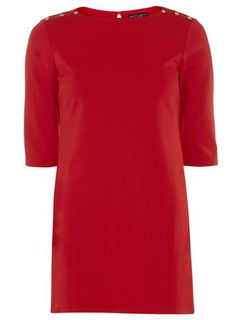 Red Button Detail Tunic