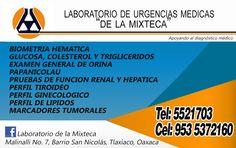 Laboratorio Clínico en Tlaxiaco.