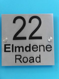 Brushed Stainless Steel House sign, Number. Personalised. Laser cut Acrylic letters  NOT cheap vinyl by WoodenPhotoMemories on Etsy https://www.etsy.com/uk/listing/222118717/brushed-stainless-steel-house-sign