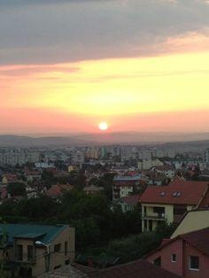 sunrise over the city of Cluj Napoca - Romania