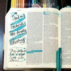 Acts 11:   //   jennisfaithillustrated Scripture Journal, Prayer Journals, Art Journals, Acts Bible, Bible Art, Scriptures, Bible Verses, Psalm 13, New Testament Bible