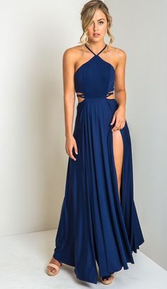 long prom dresses For Teens Gowns Pretoria Cutout Maxi Dress Pretty Prom Dresses, Prom Dresses For Teens, Cute Dresses, Beautiful Dresses, Event Dresses, Ball Dresses, Prom Outfits, Fashion Outfits, 60 Fashion