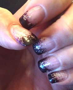 November nails - they look black but they're a very dark purple