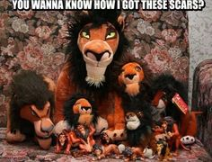 Holy fack!!!  Why do I not have a Scar collection?? I have the big stuffed animal.