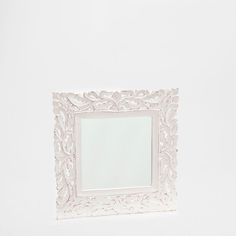 SQUARE WOOD OPENWORK MIRROR - Mirrors - Decoration | Zara Home United States of America