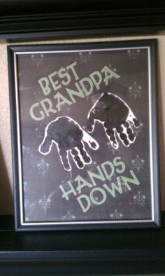 Gift  for Grandpa or Daddy.  Forever small