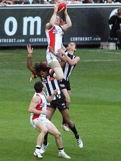 I'd like to see some NFL Wide Receivers do this! AFL - Aussie Rules Football