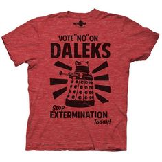 $17.95 vote no daleks t-shirt doctor who clothes