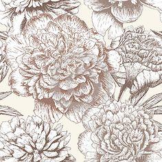 Seamless peony  pattern by Larisa Vasilyeva, via Dreamstime