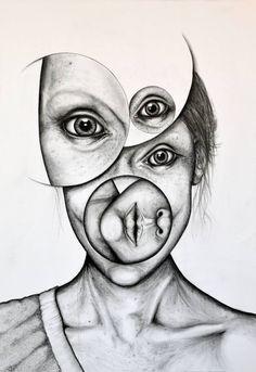 "Saatchi Art Artist Andy Butler; Drawing, ""Monochrome #1"" #art"