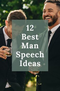 Are you standing up in a wedding as the best man? Aside from planning the bachelor party, you have one very public and important responsibility—giving a best man speech at his wedding. Wedding Ceremony Script, Lgbt Wedding, Wedding Reception, Wedding Rings, Wedding Signage, Destination Wedding, Wedding Planning Tips, Event Planning, Wedding Ideas