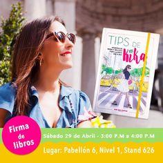 Amigas de Bogotá!! Mañana a las 3pm estaré en la Feria del Libro firmando mis #TIPSDEKIKA y compartiendo trucos de estilo y maquillaje! VENGAN A VISITARME  !!! Estaré feliz de verlas y compartir con ustedes #estilokika #modaybelleza