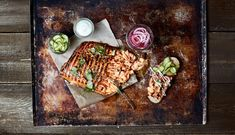 Check out the recipe to make delicious Pulled Salmon with Zingy Red Onion. Read all the instructions & ingredients used to make Pulled Salmon with Zingy Red Onion. Yellow Mustard Seeds, Pickling Cucumbers, Sugar And Spice, Avocado Toast, Sour Cream, Food Print, Food To Make, Onion, Cilantro