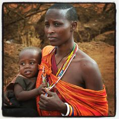 Kenyan mother with here child