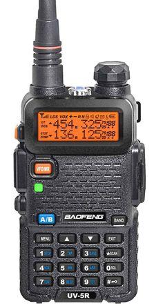 Baofeng UV-5R Dual Band VHF / UHF Ham Radio With Mini Mag Mount Antenna