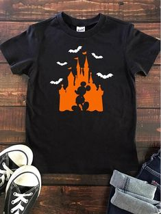 Youth Halloween Castle T Shirt, Disney Halloween T, Family Halloween T shirt, Disney Trick or Treat, - Disney Family Vaca - Etsy Disney Halloween Shirts, Mickey Halloween, Disneyland Halloween, Disney Shirts For Family, Adult Halloween, Family Halloween, Disney Family, Disney Tees, Disney Apparel