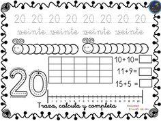 Colección de fichas para trabajar los números del 1 al 30 - Imagenes Educativas