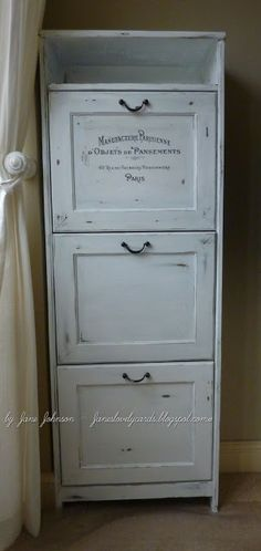 Jane's Lovely Cards : Shabby Shoe Cabinet, This is the image transfer method I will use