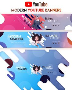 News flash-- people are terrific at overlooking banner advertisements! By making use of a few fundamental . Youtube Design, Youtube Banner Design, Youtube Banner Template, Youtube Banners, Web Design, Web Banner Design, Banner Vertical, Banner Design Inspiration, Design Ideas