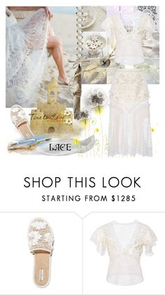"""""""ROMANTIC LACE"""" by nicolevalents ❤ liked on Polyvore featuring Balenciaga and Rodarte"""