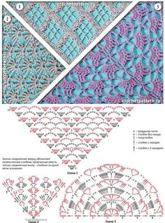 Een haakpatroon van drie omslagdoeken, voor elke smaak een patroon. Kom voor het haakpatroon snel naar Haakinformatie.nl!