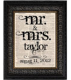 http://www.etsy.com/listing/98619561/custom-wedding-gift-mr-and-mrs-last-name  www.etsy.com/shop/Vintagraphy