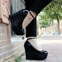 2016 spring and summer style new slope female ladies woman waterproof nightclub round 12cm high with white wedding shoes heels(China…