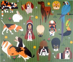 Charley Charles Harper Friends of Our Families Pets Dogs Cats Birds COA | eBay